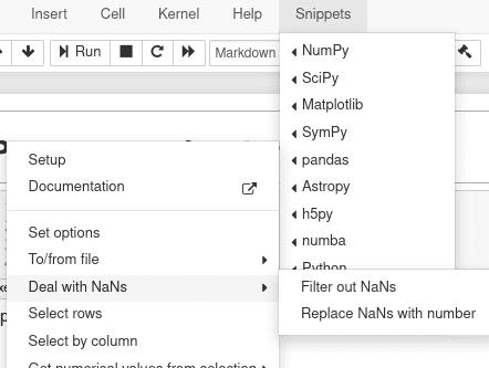 Раскрывшееся списком меню функций библиотеки Pandas Jupyter Notebook