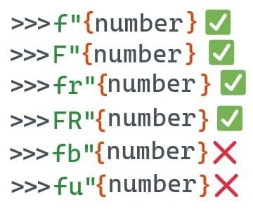 Примеры использования F-string