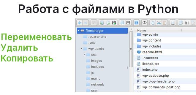 Переименовываем, удаляем и копируем файлы с помощью Python